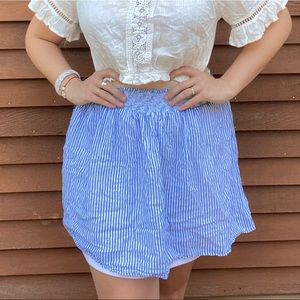 Old Navy Skirts - Blue and White Striped Skirt